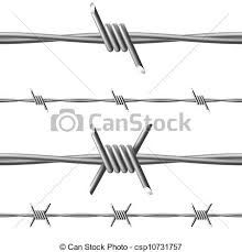 barbed wire illustration on white background for design clipart