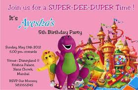 barney birthday invitations ideas u2013 bagvania free printable