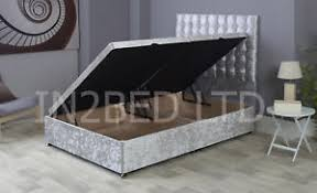 ottoman bed single velvet divan ottoman bed side lift storage bed single double king