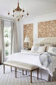 monogrammed pillows bedroom traditional with striped headboard