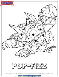 skylanders giants magic series1 pop fizz coloring page h u0026 m
