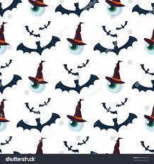 halloween seamless pattern bat decoration ghost stock vector
