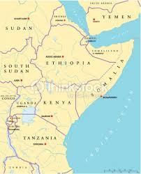 uganda map vector east africa political map vector thinkstock