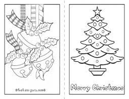 printable christmas tree card color kids