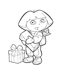 print u0026 download printable dora coloring pages