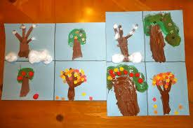mom to 2 posh lil divas kid craft the seasons of an apple tree