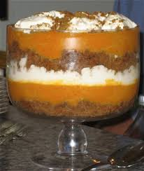 thanksgiving day recipe pumpkin gingerbread trifle with bourbon