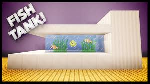 Minecraft How To Make A Furniture by Minecraft How To Build A Fish Tank Youtube