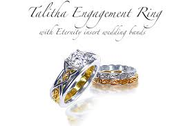 wedding band toronto celtic engagement rings talitha with insert wedding band