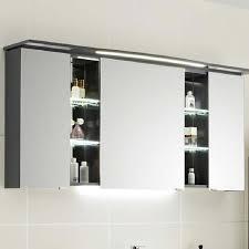 contea bathroom mirror cabinet 3 double mirrored doors with