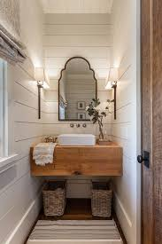 Best  Tiny Half Bath Ideas On Pinterest Rustic Shelves Half - Powder room bathroom