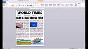 word 2010 newspaper project autoshape youtube