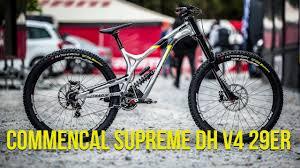 commencal dh supreme commencal s 29er dh bike george brannigan s supreme dh v4 29