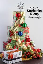 starbucks k cup christmas tree gift