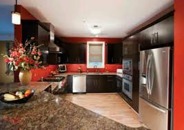 Red And Black Kitchen Cabinets by Black Kitchen Cabinets With Red Walls Images And Photos Objects