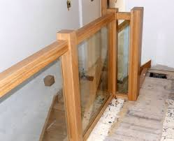 Oak Banisters Contemporary Oak Townsend Staircase Glass Balustrade High