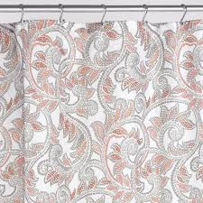 Gray Paisley Shower Curtain by Mosaic Vine Shower Curtain Curtainshop Com