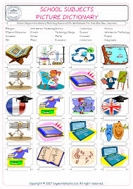 Esl Vocabulary Worksheets Subjects Free Esl Efl Worksheets Made By Teachers For