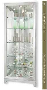 Discount Corner Curio Cabinet 6806011 Howard Miller Five Glass Shelves Silver Corner Curio