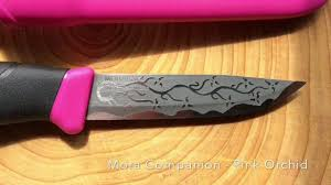 mora kitchen knives mora companion pink orchid youtube