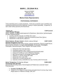 Sample Resume Format Medical Representative by Sample Medical Sales Resume Device Examples Doc Salesman Samples