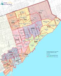Mls Teams Map Toronto Real Estate District Maps East Toronto Map Etobicoke