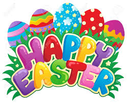 happy easter sign theme image 3 vector illustration royalty free