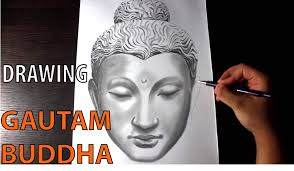 gautam buddha speed art drawing sketching youtube