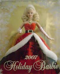 holiday barbie dolls collectible pink box