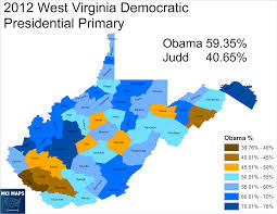 Presidential Election Map 2012 by West Virginia Democratic Primary Poised To Have High Protest Vote