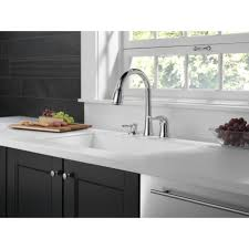 kitchen room single handle deck mounted kitchen faucet with soap