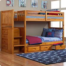 discovery world furniture honey staircase mission bunk bed twin