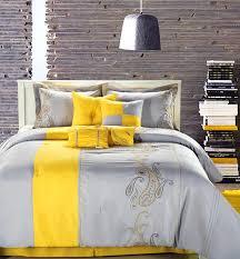 bedroom astonishing cool and elegant grey yellow bedroom for