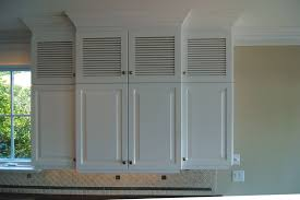 Louvered Cabinet Door Louvered Kitchen Cabinet Doors Trekkerboy