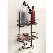 bath shower beautiful free standing shower caddy for elegant engaging stunning bronze iron free standing shower caddy and white wall