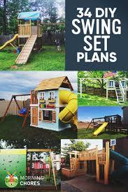 Diy Ideas For Backyard 34 Free Diy Swing Set Plans For Your Backyard Play Area