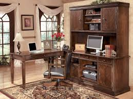 office desk with credenza hamlyn office credenza u0026 tall hutch h527 48 49