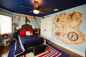Rustic Themed Bedroom - bedroom themed room kids traditional with light blue wall kids