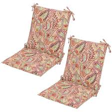 Poolside Seat Cushion Paisley Outdoor Cushions Patio Furniture The Home Depot
