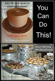 make your own buffet table diy lifts and levels buffet table setup pinteres