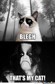 Black Metal Meme - black metal grumpy cat by gnralex96 meme center
