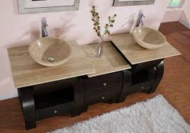 Art Kallista  Inches Modern Double Vessel Sink Bathroom Vanity - Bathroom vanities double vessel sink