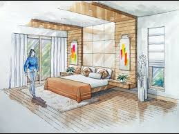 Bedroom Interior Design Sketches 2 Point Interior Design Perspective Drawing Manual Rendering How