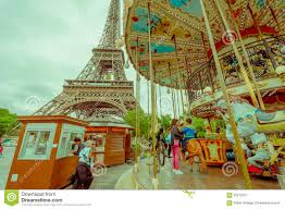 Beautiful Eiffel Tower by Beautiful View Of Carousel With Eiffel Tower Editorial Photography