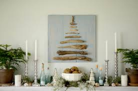 coastal inspired christmas mantel dandelion patina