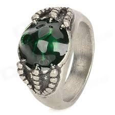men rings style images 17 men 39 s skull style aluminum alloy ring silver green jpg