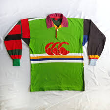 vintage 90s canterbury australia rugby multicolor jersey shirt on
