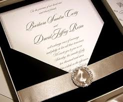 custom wedding invitations black tie