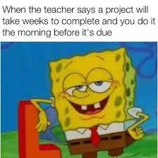 Spongebob Homework Meme - spongebob funny meme