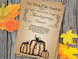 Thanksgiving Invitations Templates Free Sample Invitation Template Download Premium And Free Documents In